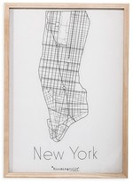 Bloomingville Wood Framed New York Wall Decor