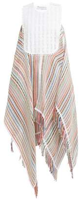 J.W.Anderson Handkerchief-hem Striped-voile Maxi Dress - Womens - Multi