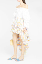 Caroline Constas Giulia Stripe High-Low Skirt