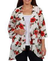 24/7 Comfort Apparel Summer Cardigan Shrug - Plus