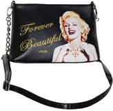 Monroe Women's Marilyn Forever Beautiful Messenger Bag MR6 - Black Messenger Bags