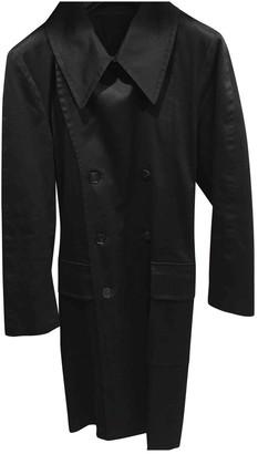 Saint Laurent Black Cotton Trench Coat for Women Vintage