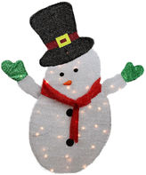 Asstd National Brand 4' Lighted Winter Snowman with Top Hat Outdoor Yard Art with Clear Lights