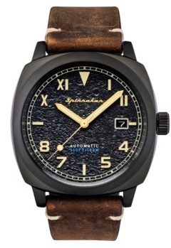 Spinnaker Men's Hull California Automatic Dark Brown Genuine Leather Strap Watch 42mm