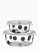 Kate Spade Deco dot 4pc round food storage containers