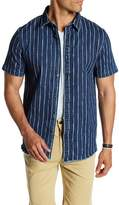 Threads 4 Thought Striped Frayed Denim Short Sleeve Shirt