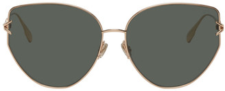 Christian Dior Gold DiorGipsy1 Sunglasses