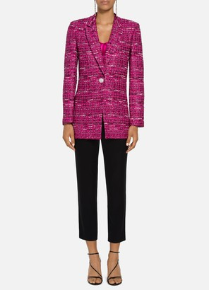 St. John Opulent Textured Tweed Jacket
