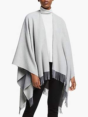 Eileen Fisher Wool-Cashmere Poncho, Pearl