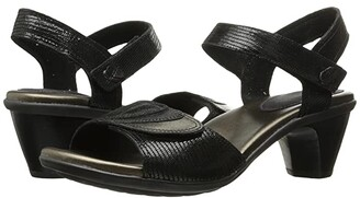Aravon Medici Sandal (Black) Women's Sandals