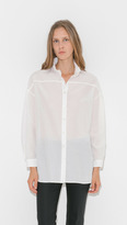 Raquel Allegra Ruffle Neck Blouse