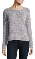 Lord & Taylor Space-Dyed Boxy Pullover