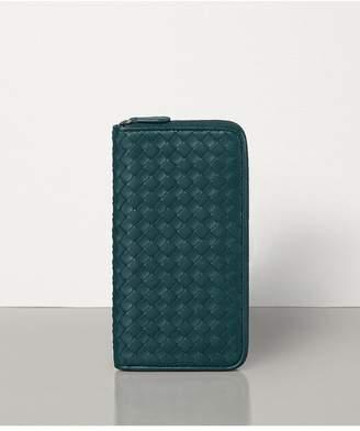 Bottega Veneta Medium Zip Around Wallet In Intrecciato Nappa