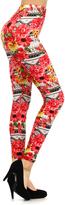 Red & Yellow Floral Leggings