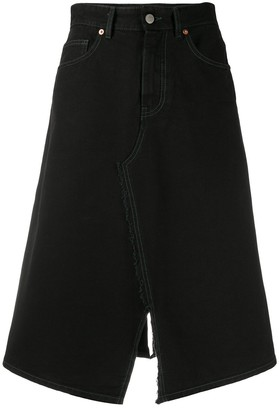 MM6 MAISON MARGIELA Midi Denim Skirt