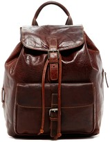 Jack Georges Voyager Drawstring Genuine Buffalo Leather Backpack
