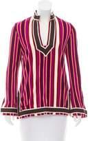 Tory Burch Textured Striped Tunic
