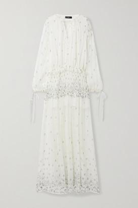 Amiri Paisley-print Silk-crepon Maxi Dress - Ivory