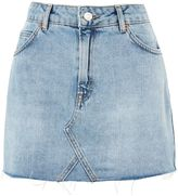 Topshop PETITE High-Waist Denim Skirt