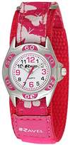 Ravel Girl's Pink Butterfly Strap Watch