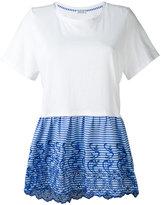 P.A.R.O.S.H. striped peplum T-shirt - women - Cotton/Polyester - XS