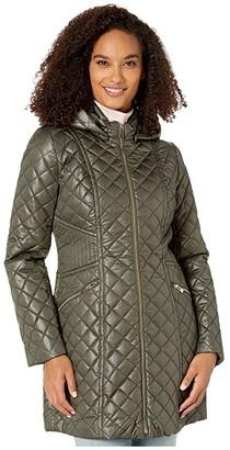 Via Spiga Mixed Stitch Hooded Quilt Jacket