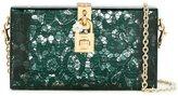 Dolce & Gabbana 'Dolce' box clutch - women - Leather/Plexiglass/metal - One Size