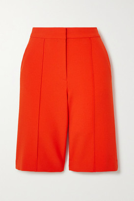 Victoria Victoria Beckham Stretch-crepe Shorts - Red