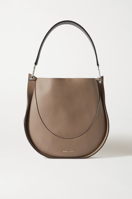 Proenza Schouler Arch Large Two-tone Leather Shoulder Bag - Gray