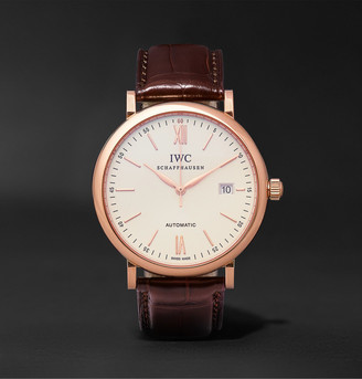 IWC SCHAFFHAUSEN Portofino Automatic 40mm 18-Karat Red Gold And Alligator Watch, Ref. No. Iw356504