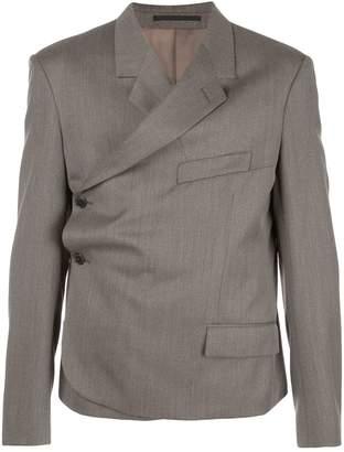buttoned wrap blazer