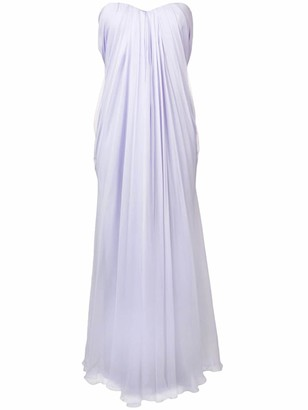 Alexander McQueen Strapless Bandeau Gown