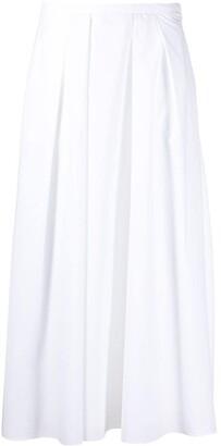Fabiana Filippi Creased Detail A-Line Skirt