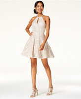 B. Darlin Juniors' Sequin-Lace Fit and Flare Dress