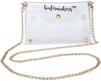 Women's Purdue Boilermakers Clear Gold Chain Crossbody Purse