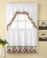 "CHF Apple Blossom 24"" Window Tier & Swag Valance Set"