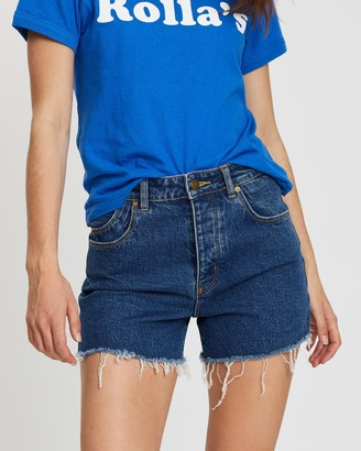 ROLLA'S Women's Blue Denim - Original Shorts - Size 24 at The Iconic