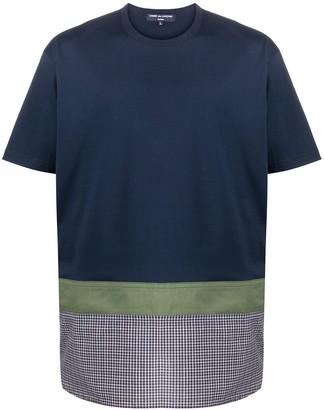 Comme des Garçons Homme checked panel cotton T-shirt