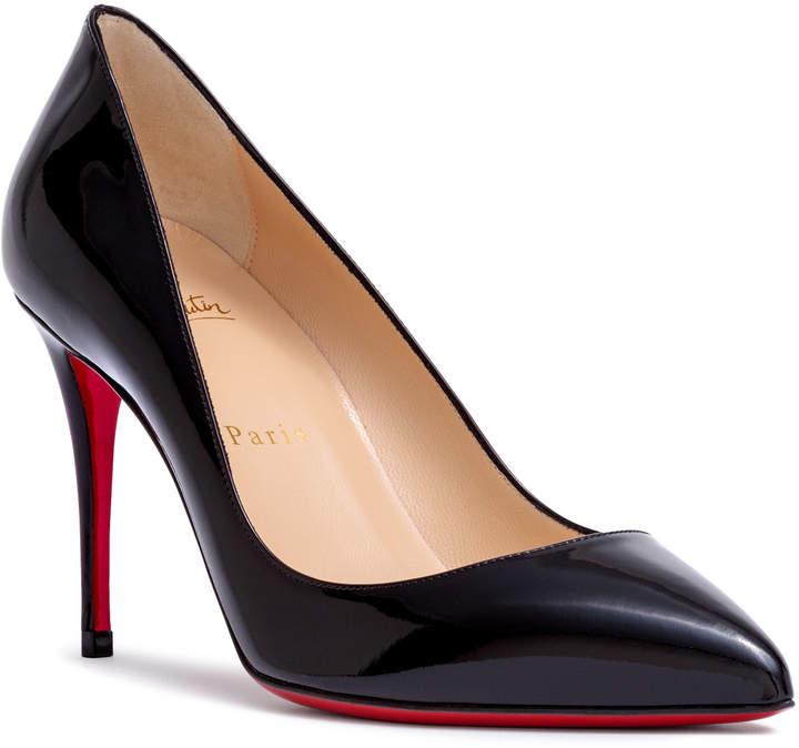 Christian Louboutin Pigalle Follies 85 black patent leather pumps