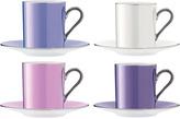 LSA International Polka Espresso Cup & Saucer Set Of 4 Pastel