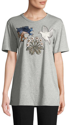 Alexander McQueen Medieval Embroidery T-Shirt