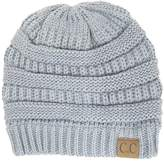 Cambridge Select Winter White Ivory Thick Slouchy Knit Oversized Beanie Cap Hat