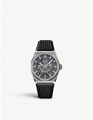 Zenith 95.9000.670/78.R782 Defy Classic titanium and rubber automatic skeleton watch