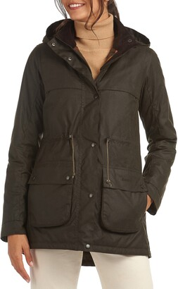 Barbour Re-engineered For Today Cassley Hooded Waxed Raincoat