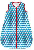 Sweet Baby Lilly 100% Cotton Blue Elephant Baby Sleeping Bag for Boys - Medium (6-18 Months)
