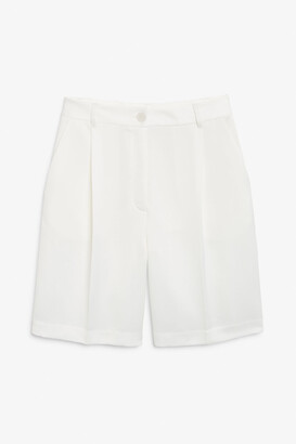 Monki Satin tailored shorts