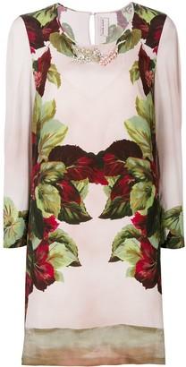 Antonio Marras embellished printed shift dress