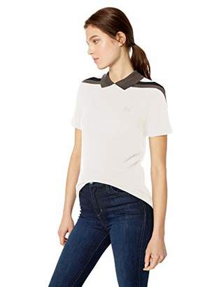 Lacoste Women's Short Sleeve Slim FIT Mouline Pique Made in France Polo