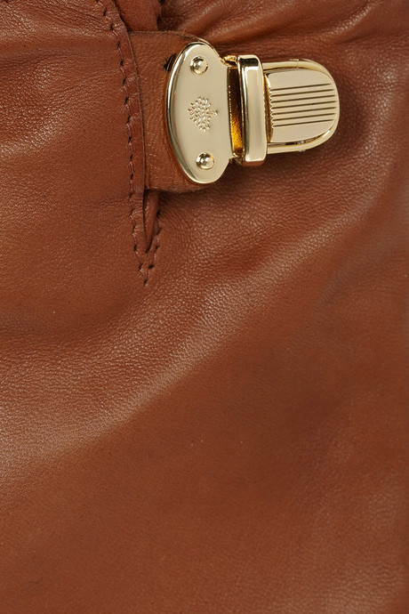 Mulberry Polly Push Lock leather gloves