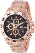 August Steiner Men's AS8071RG Swiss Multi-Function Dial Rose-Tone Bracelet Watch